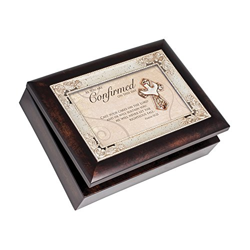 - Cottage Garden Italian Inspired Inspirational Music Box - Confirmation Plays Amazing Grace