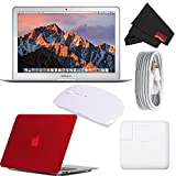 Apple 13.3' MacBook Air 128GB SSD #MQD32LL/A (Newest Version 2017 Model) Red Bundle