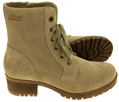 Leather Oliver Womens Suede Beige s Boots Combat Twx01gq