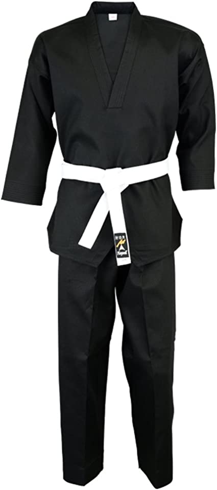 Middle Weight Black Martial Arts Karate Cotton Uniform