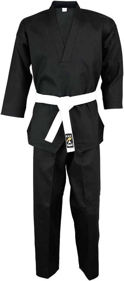 Middle Weight Black Martial Arts Karate Cotton Uniform
