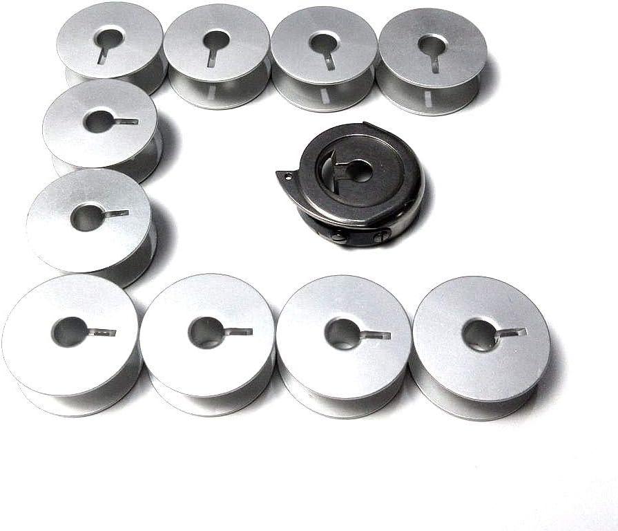 Tapa para caja de bobina + 10 bobinas para máquinas de coser ...