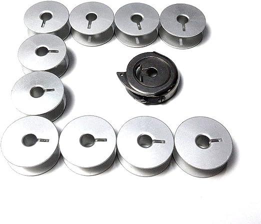 Tapa para caja de bobina + 10 bobinas para máquinas de coser Durkopp Adler 167 168 267 268: Amazon.es: Hogar