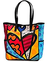 Romero Britto Satin Tote Bag - Medium