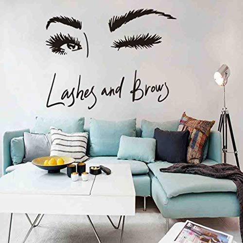 WOCACHI Wall Stickers Decals Wall Art Sticker Eye Lashes Extensions Beauty Salon Wall Decor Eyebrows Make Up Art Mural Wallpaper Peel & Stick Removable Room Decoration Nursery Decor (Justin Bieber Toilet Paper)