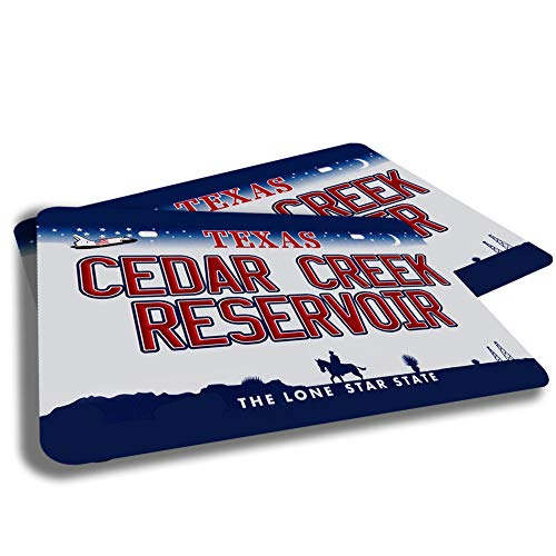 Brotherhood Cedar Creek Reservoir Texas State Lakes Reservoirs License Plate Design Rubber Grip Non Skid Backing Rug Indoor Entryway Door Rug Mats Pack of 2