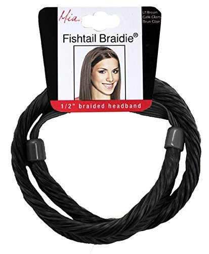 Mia Fish Tail Braidie-Fish Tail Braided Headband Made of Synthetic Hair-1/2