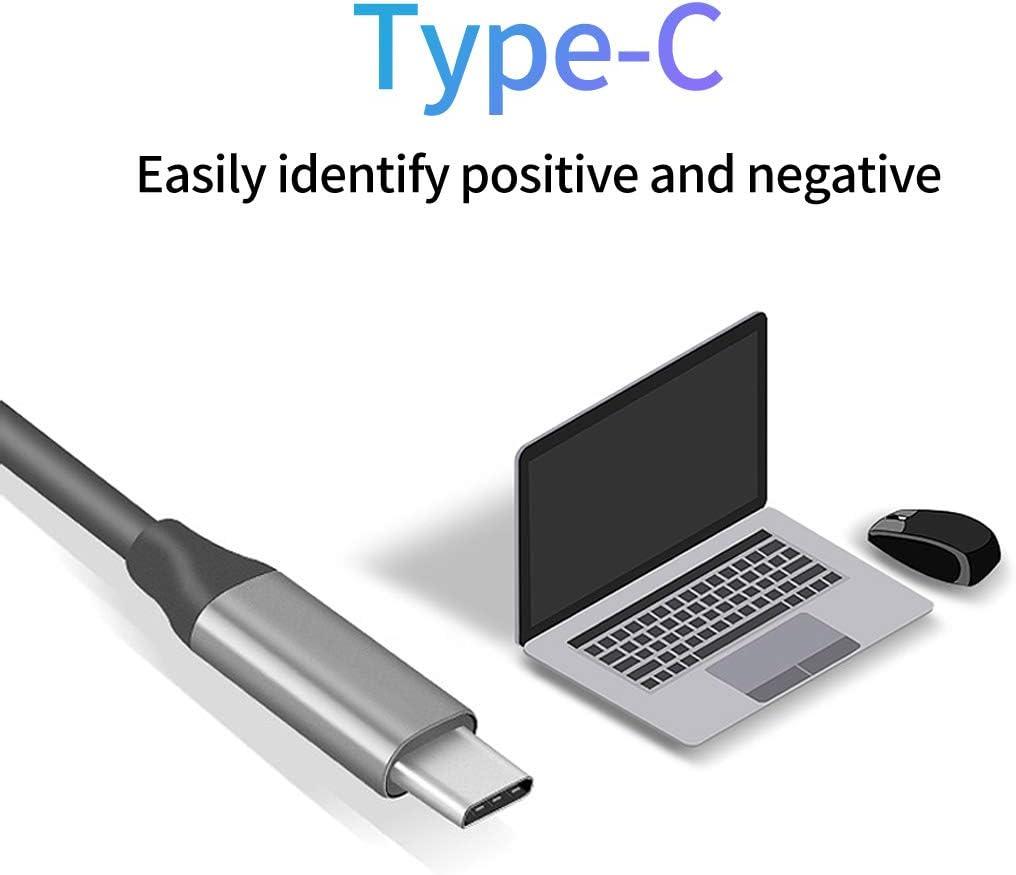 Bnoeo Hub USB C 8 in 1 Adattatore HDMI 4K VGA PD 100W Ethernet 1000Mbps Slot SD//TF 3.5Audio//Mic 4 USB 3.0 per MacBook PRO//Air Surface Go//Pro7 Samsung Dex S10 S9 S8 Huawei P20//30 Mate20