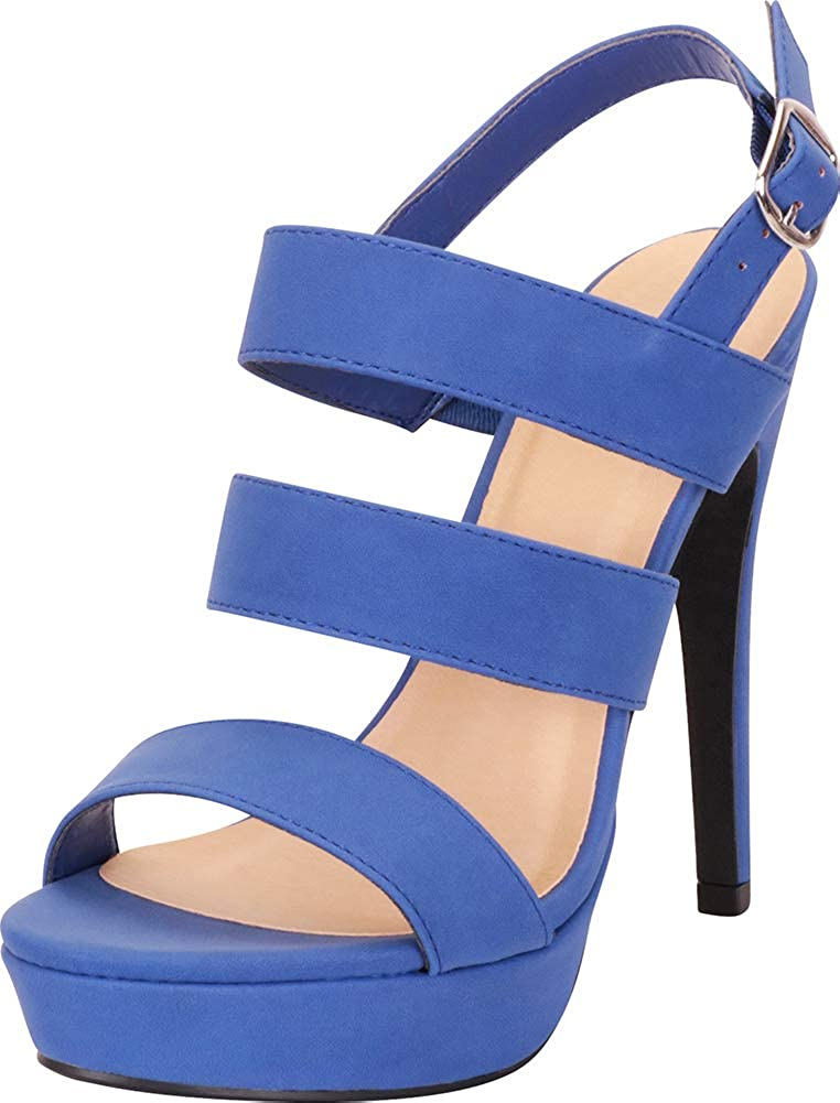 Cobalt Nbpu Cambridge Select Women's Open Toe Strappy Slingback Platform High Heel Sandal