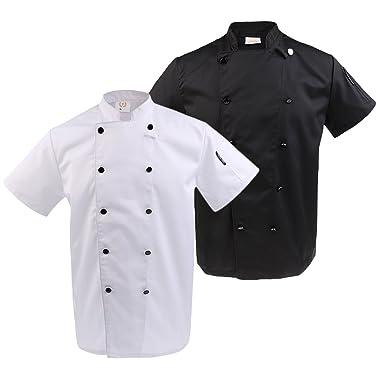 IPOTCH Unisex Camisa de Cocinero Traje de Trabajo de Cocina de ...