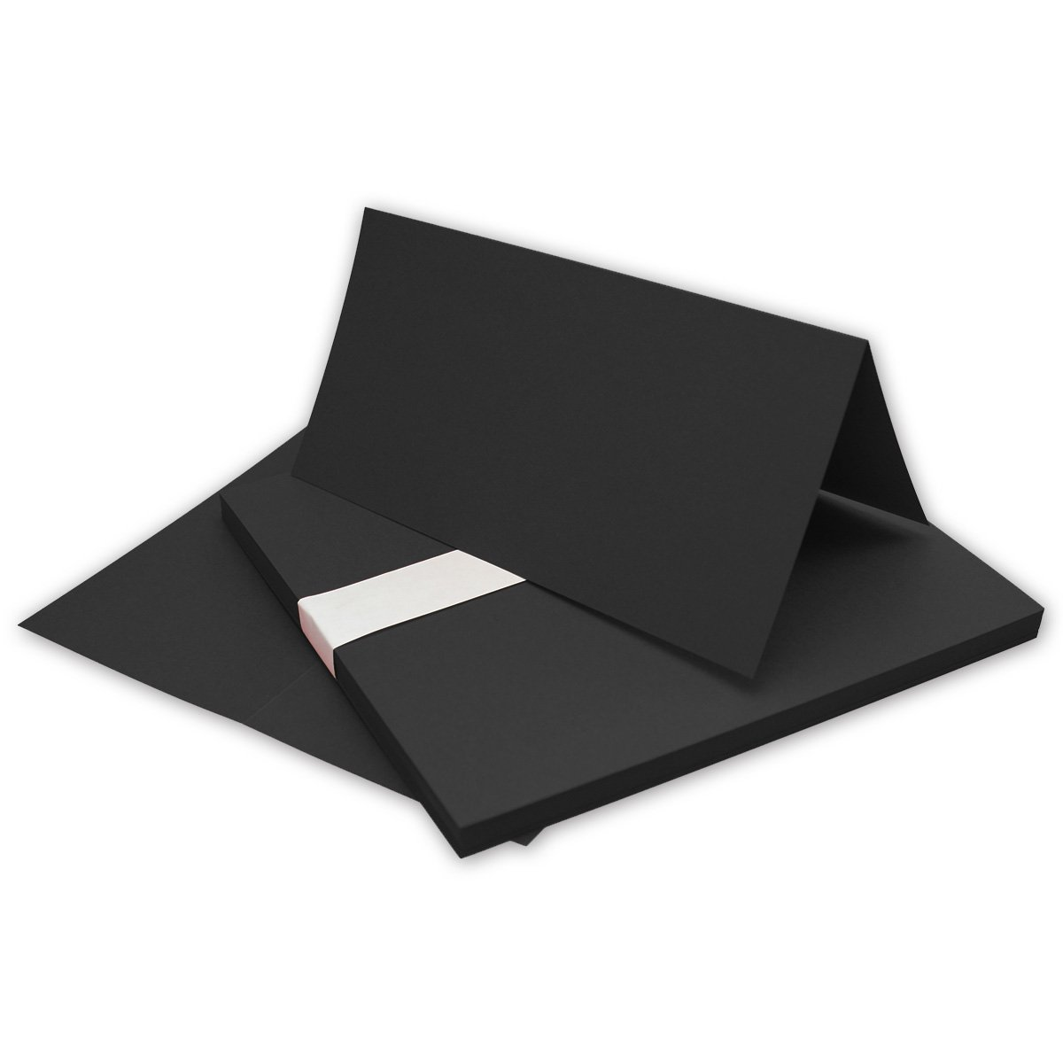 Faltkarten Din Lang   Schwarz   500 Stück   Premium Qualität - 10,5 x 21 cm - Sehr formstabil -Ideal für Grußkarten und Einladungen - Qualitätsmarke  NEUSER FarbenFroh B07FKSXMWC |