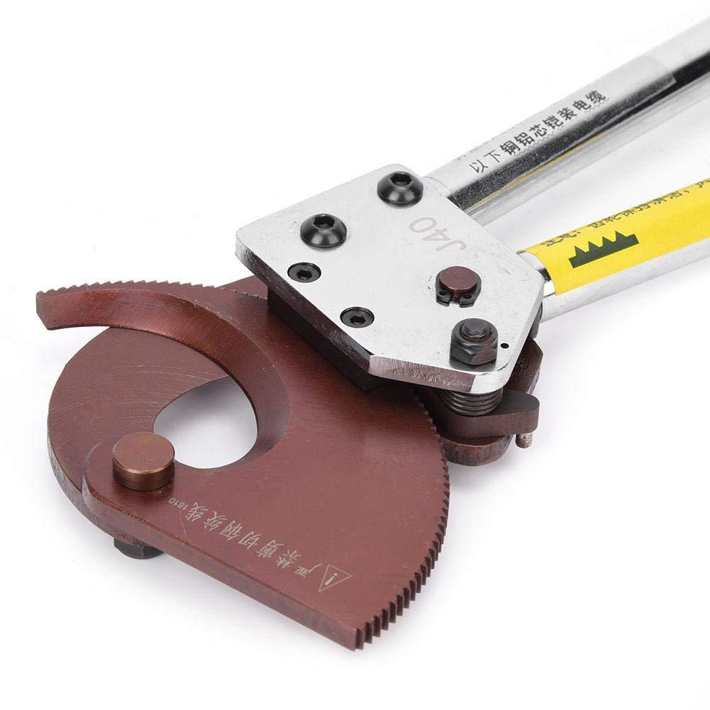 Cortadores de alambre de cuchilla de acero al manganeso industrial Herramienta manual de corte de alambre Cortador de cable de trinquete Cortador de cable de trinquete manual