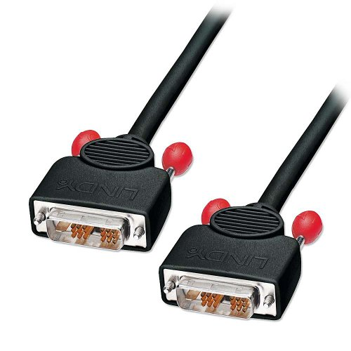 LINDY 2 Meter Single Link DVI-D Cable, Black (41281)