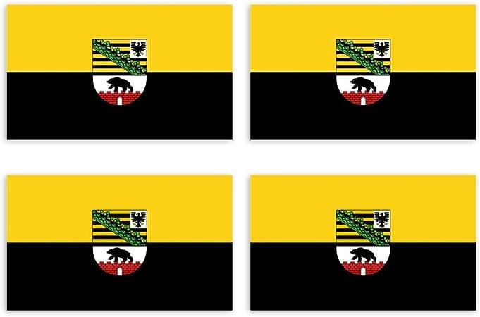 Kiwistar Aufkleber 4 5 X 2 3 Cm Sachsen Anhalt Bundesland Autoaufkleber Deutschland Flagge Länder Wappen Fahne Sticker Kennzeichen Auto