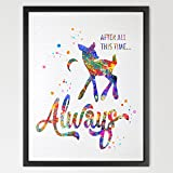 Dignovel Studios 8X10 Harry Potter Always Inspired Watercolor illustration Art Print Harry Potter Poster Friendship Quote Nursery decor Kids Art N335