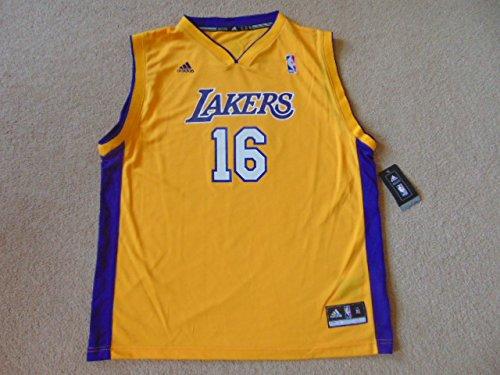 NWT - Camiseta de Baloncesto del Equipo de la NBA Los Ángeles Lakers, diseño con Nombre Gasol y número 16, XL/S: Amazon.es: Zapatos y complementos