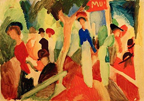 kunst für alle Art Print/Poster: August Macke Hat Shop on The Promenade Picture, Fine Art Poster, 21.7x15.7 inch / 55x40 ()