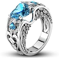 Fashion Jewelry 925 Silver Aquamarine Ring Women Wedding Bridal Gifts New Sz6-10 (10)