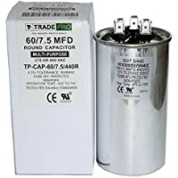 60/7.5 MFD Replaces Both 440 and 370 Volt Round Run Capacitors Dual Capacitor TradePro 60 + 7.5