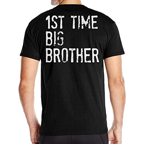 Aoaoozu8 Men 1St Time Big Brother Casual Style Tees Black Size - Jacobs Mark Boots
