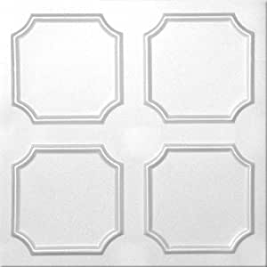 Decorative Insulation Modern Ceiling Tile R-1 Pack of 4 Tiles