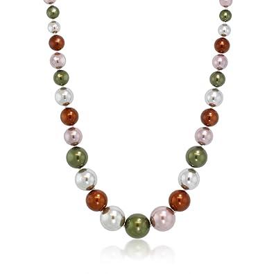 adfe1e816f1 Amazon.com  Gem Stone King Stunning Multi Color 8MM to 16MM Round ...
