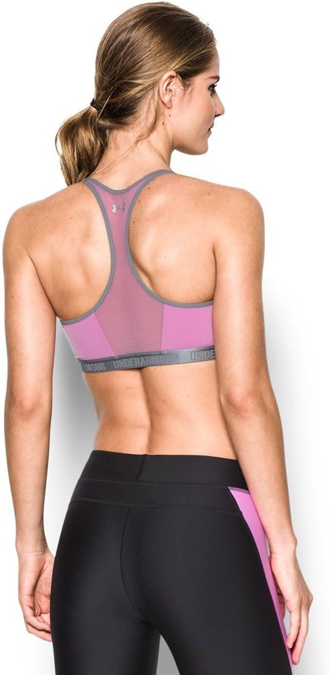 Under Armour Mid Crossback Sport BH Damen Running Fitness Trainings Bra Bustier