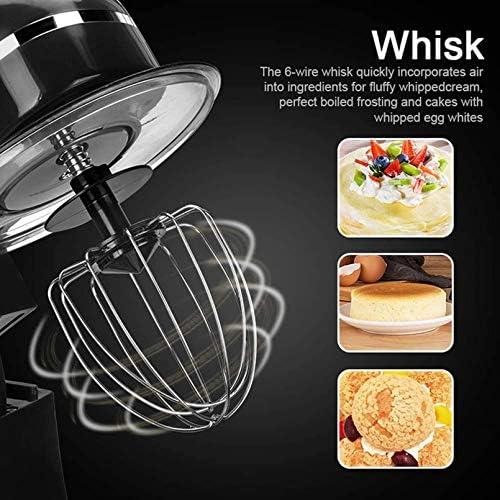 PJPPJH Batteur à Main électrique 6 Vitesses Puissant Fouet portatif pour la Cuisine Cuisson gâteau Mini Batteur de Nourriture à la crème aux œufs, Noir