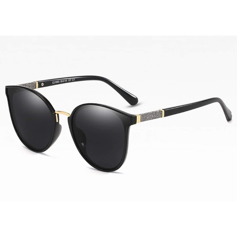 YLNJYJ Polarized Cat Eye Sunglasses Men Women Shiny Decorative Legs Fashion Shades Uv400 Vintage Glasses