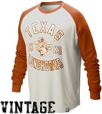 Nike Mens Texas Longhorns Orange Marled Raglan Short Sleeve Fashion T Shirt