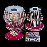 Sanskriti Musicals Tabla Set - 3.5 Kg Copper Bayan 3 Kg - Sheesham Dayan - Cjh