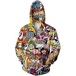 Hot Style Men Women Cartoon Characters 3D Printing Hoodies Fashion Men'S Sportswear Sportsman Wear Hoodie Sweatshirt Cardigan XXL