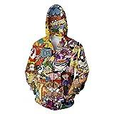 Hot Style Men Women Cartoon Characters 3D Printing Hoodies Fashion Men'S Sportswear Sportsman Wear Hoodie Sweatshirt Cardigan S