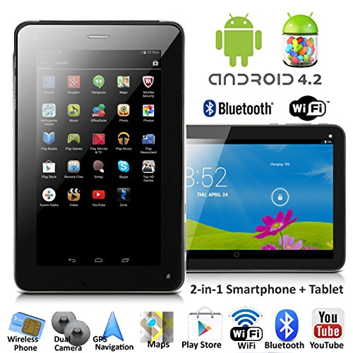 inDigi NEW! 7 Android 4.2 JB Tablet PC w/ Wireless Phone Function & Google Play Store