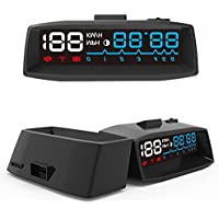 SHEROX A900 Car HUD Head Up Display with OBD2/EOBD Interface Plug & Play, Vehicle Speed MPH/KM/h, OverSpeed Warning, Fuel Consumption, Water Temperature, Battery Voltage