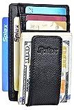 Money Clip Genuine Leather Front Pocket Wallet Mens Magnetic RFID Card Holder