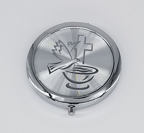 12 pcs Personalized Holy Spirit Baptism Compact Mirror Recuerdos de Bautizo First Communion party favors for Boy and Girl by Cacraftsupply