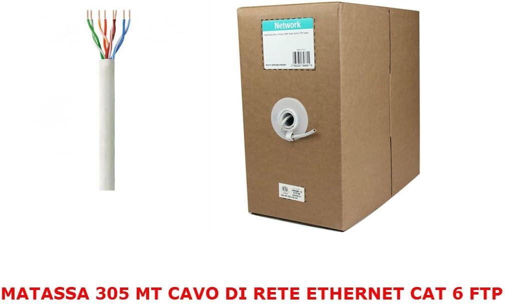 MATASSA 100 M METRI FTP CAT6 CATEGORIA 6 LAN CAVO ETHERNET RETE LAN ADSL RJ45 IP