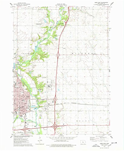 Ames East IA topo map, 1:24000 scale, 7.5 X 7.5 Minute, Historical, 1975, updated 1978, 26.9 x 22 IN - - Towne East