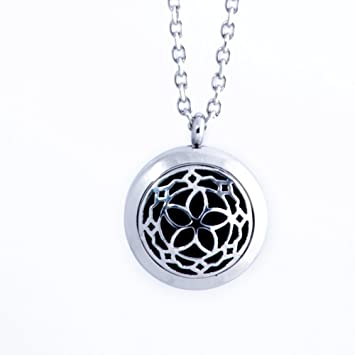 Amazon aromatherapy essential oil diffuser locket necklace aromatherapy essential oil diffuser locket necklace wear your aroma oils hypo allergenic surgical aloadofball Gallery