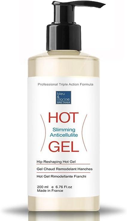 Gel Termico Anti Celulitis Adelgazante 200 ml con dispensador ● Hot Gel con Algas, Café y Aceites Esenciales ● Efecto Calor Drenante y Quema Grasa ● ...