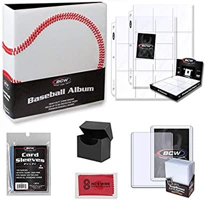 Bcw Baseball Trading Card Collectors Binder And Storage Kit