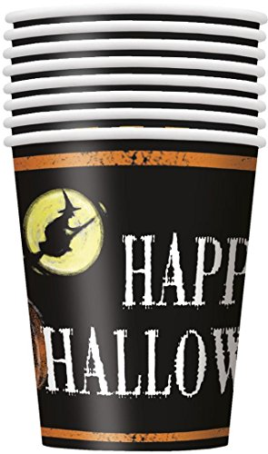 9oz Ghostly Halloween Party Cups, 8ct