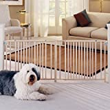Cheap My Pet Extra Wide Swing Pet Gate, Natural Wood