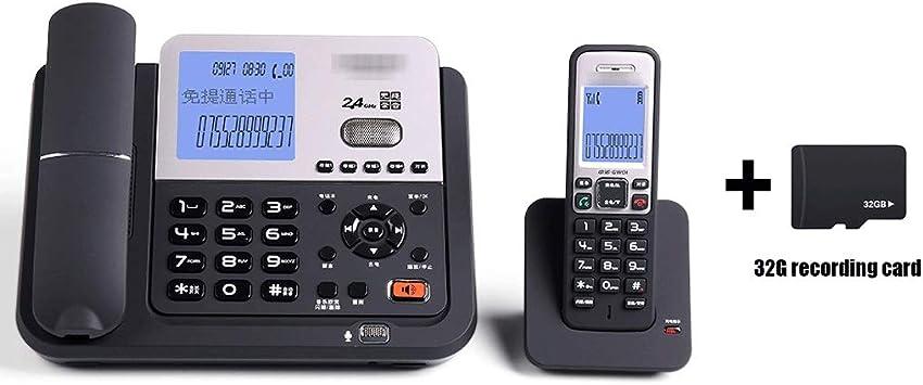 Uioy Grabación de teléfono, teléfono, contestador automático, teléfono inalámbrico Digital, Inteligente teléfono Fijo inalámbrico Fijo (Color : Negro): Amazon.es: Electrónica