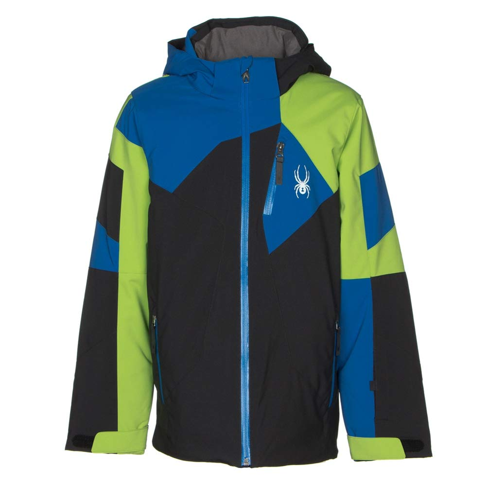Black Fresh Turkish Sea 10 Spyder Boys' Leader Jacket
