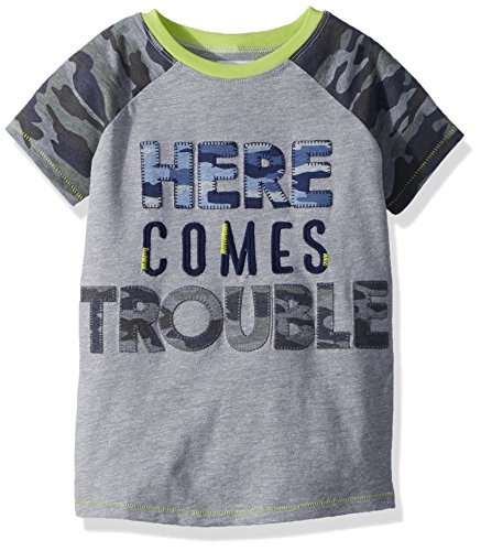 Mud Pie Fashion - Mud Pie Baby Boys Camo Short Sleeve T-Shirt Trouble, Green, MD/2T-3T