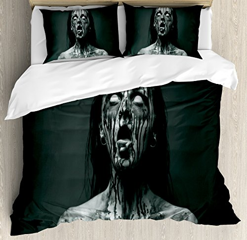 Zombie Decor Queen Size Duvet Cover Set by