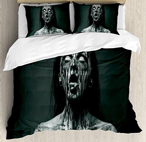 Zombie Decor Queen Size Duvet Cover Set by