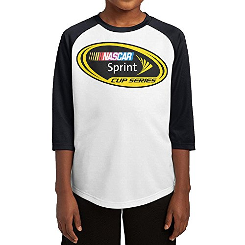 [GUYT Youth Boys Nascar Raglan 3/4 Sleeve T-Shirt Black Size S] (Nascar Tony Stewart Costumes)